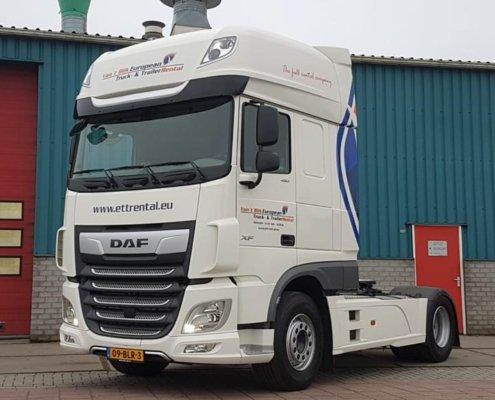 Vanaf deze week in de verhuur via European Truck- & TrailerRental: Nieuwe DAF XF FT480 Super Space Cab. Wil je deze huren voor korte of langere periode? Bel dan naar 0566-650518