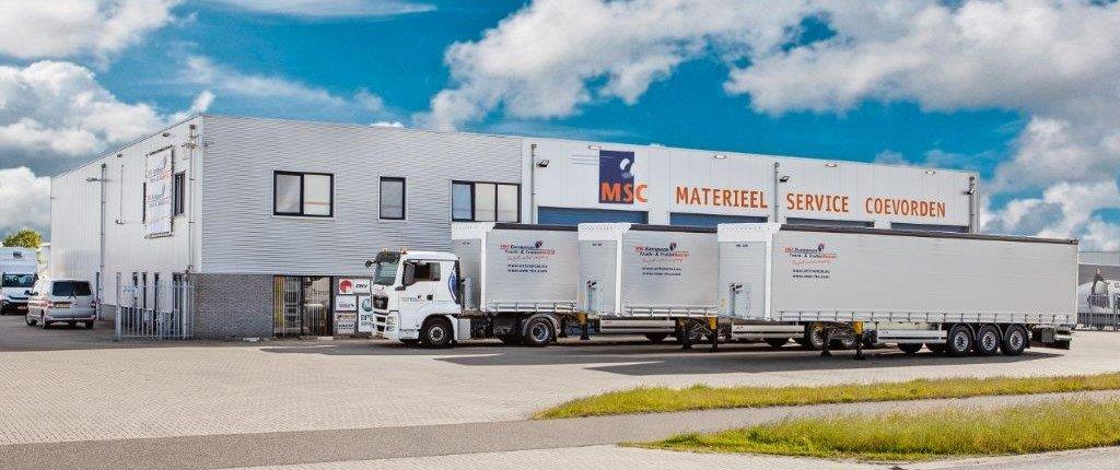 Schuifzeilenoplegger te huur via MSC European Truck and TrailerRental