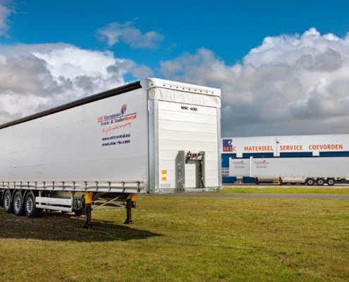 Schuifzeilenoplegger te huur via MSC European Truck and TrailerRental