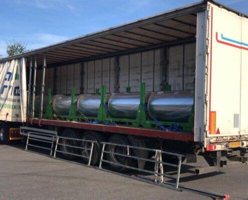 Coil oplegger te huur via European Truck en Trailer Rental Roadservice de Kempen buitenzijde